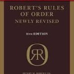Cover of Roberts Rules of Order Newly Revised 11th edition