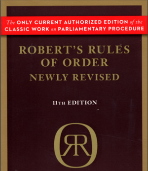 Copy of Roberts Rules of Order Current Edition