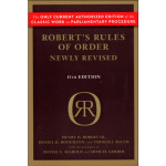 Cover of Roberts Rules of Order current edition - the only authorized version