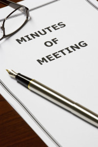 minutes of a meeting