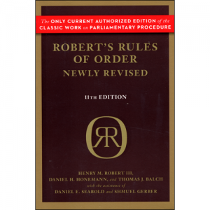 Robert's Rules of Order 11th edition