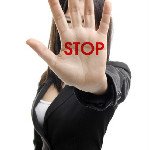 picture of woman saying stop