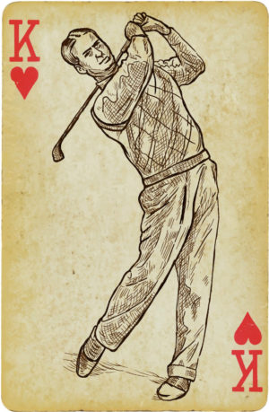drawing of king of golf