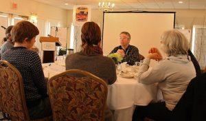Craig Freshley at a meeting