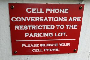 sign restricting cell phones