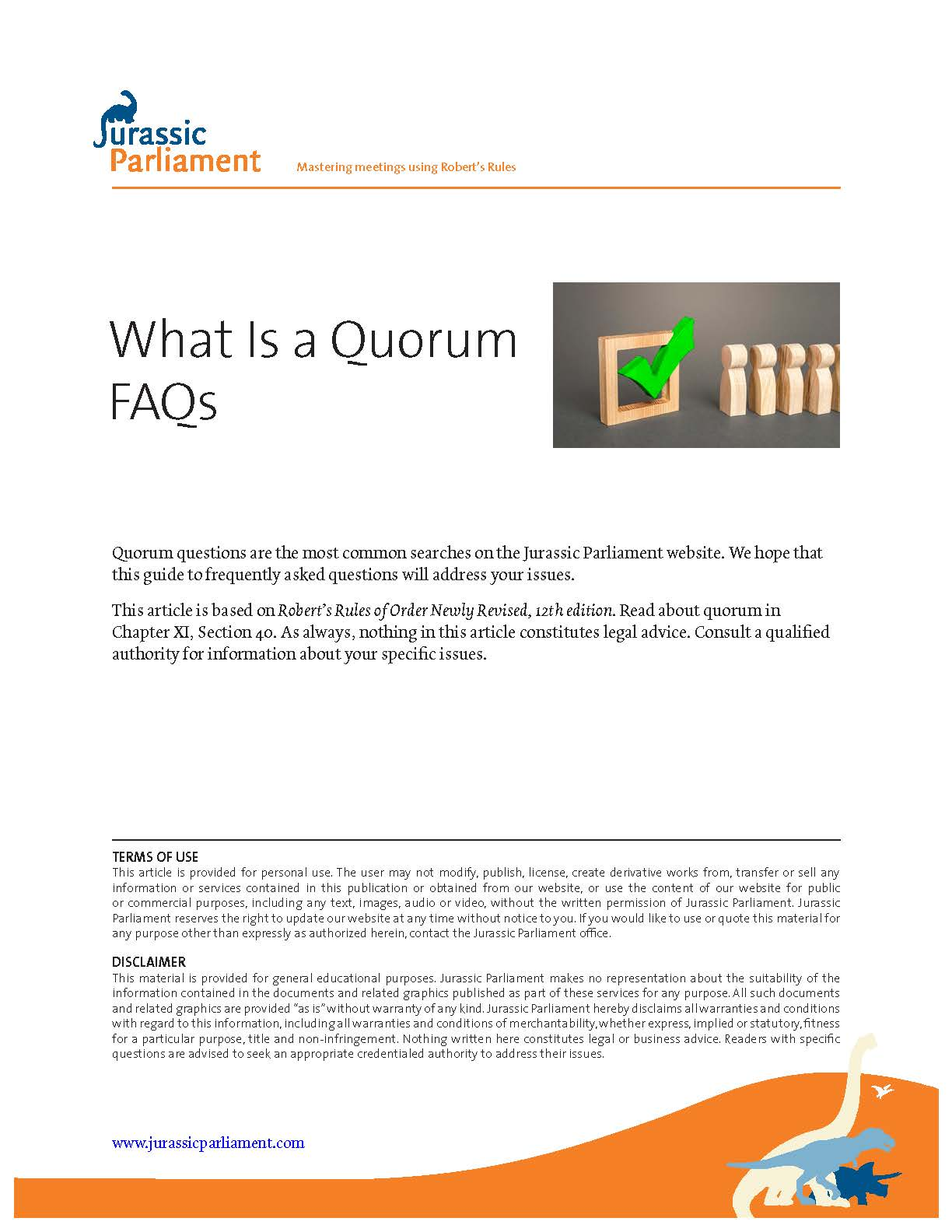 FRONT What Is a Quorum FAQs